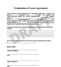 notice of lease termination lease termination letter lease