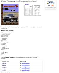2011 titan service manual nissan titan forum