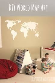 Diy World Map by Easy Diy World Map For The Wall