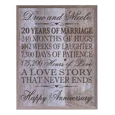 20th wedding anniversary gift 20th wedding anniversary gift for husband wedding gifts wedding