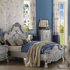 Silver Queen Bed Acme Furniture Dresden Bedroom Set In Silver Local Furniture Outlet