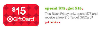 target giftcards on black friday target u2013 black friday sale receive a 15 gift card with 75 purchase