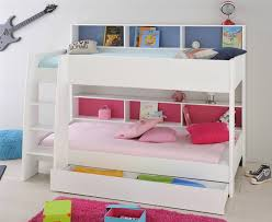 Parisot Tam Tam White Bunk Bed With Shelves - White bunk bed with drawers