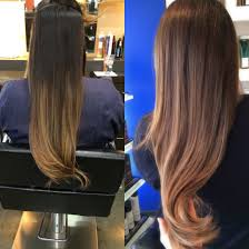 does hair look like ombre when highlights growing out from seriously grown out ombré 8 months to medium brown with