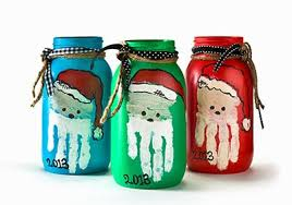 christmas santa jars with your child u0027s handprint teacher gift