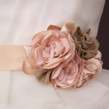 burlap flowers blush wedding sash with blush satin and burlap flowers ellie wren
