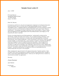 special education teacher cover letter physical education cover