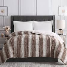 Faux Fur Duvet Cover Queen Christian Siriano Faux Fur Comforter Assorted Sizes And Color