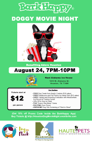 barkhappy houston doggy movie night benefiting adore houston