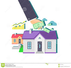 invest in real estate icon flat design stock vector image 66178312