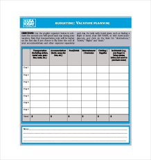 Travel itinerary and budget template 7 travel budget template