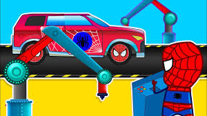 monster trucks lightning mcqueen spiderman spiderman disney trucks lightning mcqueen repair learning vehicles
