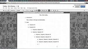 how to write an outline for a research paper mla mla outline youtube