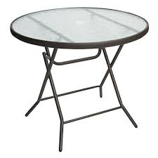 round glass outdoor table view 34 round glass top folding table deals at big lots folding