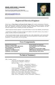 resume sample for ojt electrical engineering students resume