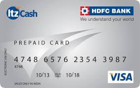 bank prepaid cards hdfc bank itz prepaid card national cycling club gorakhpur