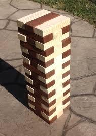 jumbo wood blocks game wooden blocks corporate event game
