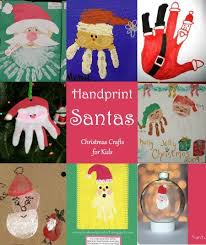 handprint santa crafts for to make this