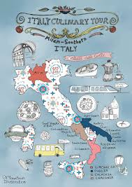 Napoli Map by Italy Culinary Tour A Foodie U0027s Illustrated Map Of Italy