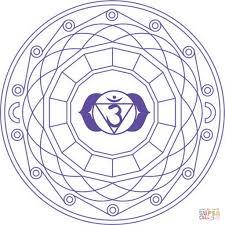 sahasrara chakra mandala coloring page free printable coloring pages
