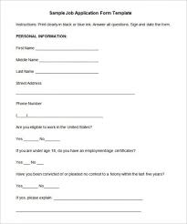 job application template 18 examples in pdf word free