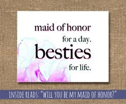 Will You Be My Maid Of Honor Ideas Wedding Maid Of Honor Besties For Life Card How To Ask A Maid
