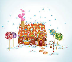 gingerbread house wall decal christmas mosaic