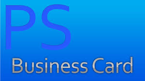 how to make a business card with adobe photoshop cs5 youtube