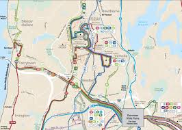 New York Bus Map by Sprain Brook Parkway Lane Reduction 511ny Org