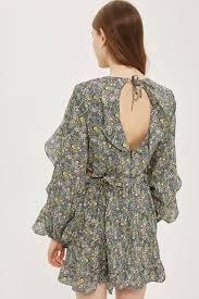 topshop dress topshop x liberty fabrics ruffle skater dress never knowingly