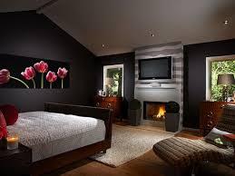 Sleep Room Design Dark Red Bedroom Designs White Covered Bedding Soft Brown Curtain