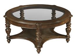 antique round coffee table hekman vintage european round glass top coffee table with shelf
