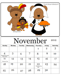thanksgiving calendar clipart clipartxtras