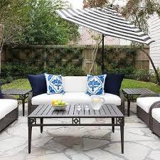 White Patio Umbrella Black And White Striped Outdoor Patio Umbrella Design Ideas
