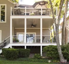 sc u0027s deck ceiling rainwater drainage system keeps lower decks nice
