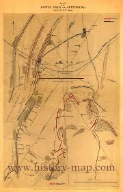 Gettysburg Pennsylvania Map by 1860s Maps