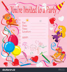 many stock birthday party invitation card vector creation stock vector invitation cards for birthday party best sle
