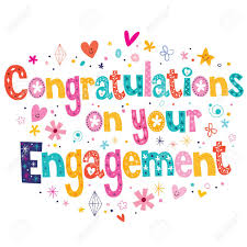 engagement congratulations card congratulations on your engagement card royalty free cliparts