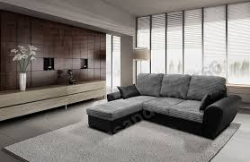 Living Room With Grey Corner Sofa Tommy Corner Sofa Bed Grey And Black Jumbo Cord Fabric Leather