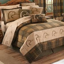 Camo Comforter King Ducks Unlimited Plaid Bedding Collection