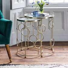 glass nesting coffee tables chiswick glass top nesting side tables living room pinterest