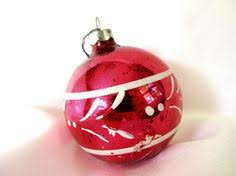 vintage shiny brite christmas ornament pink white and yellow