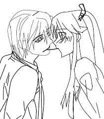 cute anime couple by xflowerofhellxx on deviantart