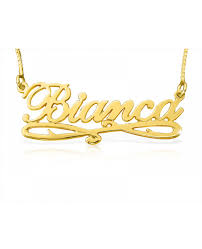 14kt gold name necklace solid 14k gold name necklaces the name necklace