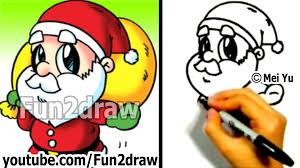 how to draw santa things to draw lessons fun2draw