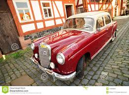 car mercedes red red vintage mercedes retro car editorial photography image 18278357