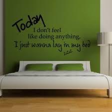 bedroom lyrics bruno mars wall sticker lazy song bedroom lyrics decal music quotes