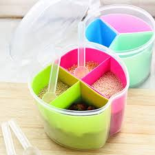 online get cheap modern kitchen canisters aliexpress com removable kitchen tools plastic 4 grids salt spice seasoning storage box detachable spices container canister drop