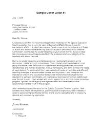 ideas of cover letter special education teacher position in letter