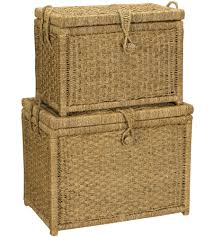 Chest Of Drawers With Wicker Drawers 3 Drawer Wicker Storage Chest In Wicker Baskets